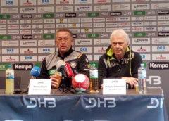 Michael Biegler und Wolfgang Sommerfeld - Handball WM 2017 Deutschland - DHB Pressekonferenz am 02.12.2017 in Leipzig - Foto: SPORT4FINAL